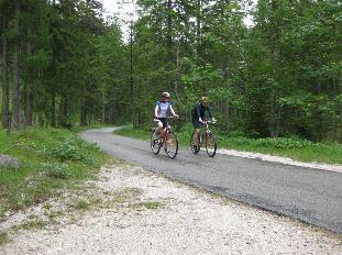 Mit Theresa Schweiger beim Radfahren zum Hirschbichl in Hintersee